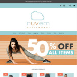 Nuvem Activewear - 50% off All Items, Free Shipping on All Orders over $60