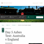 [NSW] Australia Vs England Day 5 Ashes Cricket Test Match - $1/ $2 Entry (All Proceeds Donated to Charity) @ SCG - Monday Jan 8