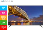 "JAEGER 75"" 4K UHD LED TV $1669.96 @ Catch"