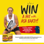 Win 1 of 100 Australian Open Kids Hats or a Trip to Meet Ash Barty [Purchase 2x Vegemite or Bega Peanut Butter from Woolworths]