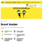 15% off Scoot Voucher for Joining 'Scoot Insider Program' (Free to Join) + 15% Voucher for Your Birthday (Each Year)