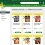Peters Drumsticks Ice Cream 475-490ml Pk 4-6 for $4.00 1/2 Price @ Woolworths