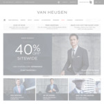 40% off on All Items and Free Shipping over $100 @ Van Heusen (Online Only)