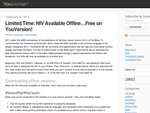 FREE YouVersion NIV 2010 Bible Offline on iPhone/iPad/iPod and Android