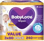 BabyLove Ultra Soft Baby Wipes Value Pack (240 Pack X 3) $25.47 (Was $38.97) + Delivery (Free with Prime/ $49 Spend) @ Amazon AU