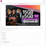 Telstra 12mth SIM Only Companion Plan $39/Month: 15GB + 5GB Bonus Data & Peace of Mind Data (Requires Port in)
