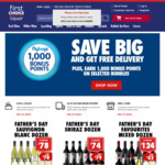 Free Standard Delivery Minimum Spend $20 @ First Choice Liquor Online