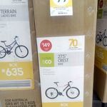 "27.5"" Crest Mountain Bike $99 (RRP $149) @ Kmart"