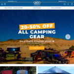 20% to 50% off All Camping Gear @ BCF