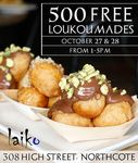 [VIC] Free Loukoumades Saturday & Sunday from 1-5PM (27/10 & 28/10) @ Laiko (Northcote)