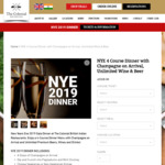 [NSW] NYE 2018 4-Course Dinner with Unlimited Beer, Wine, Drinks $84 ($5 off) @ Colonial Restaurant (Darlinghurst & Neutral Bay)