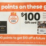 Gift Cards: 2,000 Points ($10) Google Play, 4,000 Points ($20) Adrenaline, 20% off Vodafone, 15% off iTunes @ Woolworths