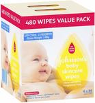 Johnson's Baby Wipes Skincare Fragrance Free (Pack of 6x80) for $10.99 + Shipping (Free with Prime/ $49 Spend) @ Amazon AU