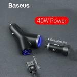 Baseus Dual USB + Cigarette Lighter Car Phone Charger AU $10.85 Delivered @ Eskybird
