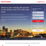 Upload Bill For Your Chance To Win a $1000 Visa Gift Card from Make it Cheaper