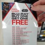 Marvel Blu-Rays Buy 1 Get 1 Free @ Big W