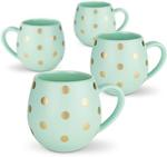 Robert Gordon Mint and Gold Spot Hug Me Mug Set of 4 - $14 (Was $49.95) Free Shipping over $50 @ Robert Gordon Australia