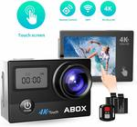 ABOX 4K 16MP, 30M Wi-Fi Waterproof Sports Action Camera + Remote $54.99 Delivered @ GlobalMall Amazon AU