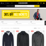 Further 30% off Sale Jackets from $27.99 (Free in Store Pick up or + $10 Postage) @ Connor Clothing