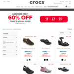 60% off Selected Styles + Free Shipping @ Crocs