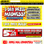 Get Extra 5% off on 10 October 1-Day Sale @ JB Hi-Fi