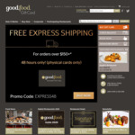 Free Express Shipping on Physical Gift Cards over $150 @ Good Food Gift Card