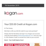 $20 off (Minimum $250 Spend) @ Kogan