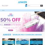 Click Frenzy Go Wild - 50% off Anker Power Banks, Power Cables, Car Chargers & USB Data Hubs @ Anker