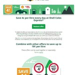Save 4c/L at Shell Coles Express via Linkt App (Linkt Toll Account Required)
