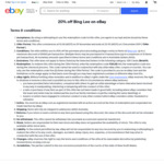 20% off @ Bing Lee eBay