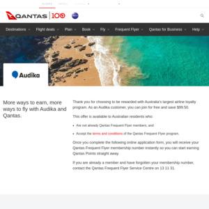 Free Qantas Frequent Flyer Membership Using Audika