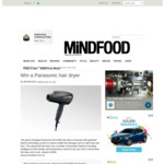 Win a Panasonic EH-NA98 Hair Dryer Worth $349 from MiNDFOOD