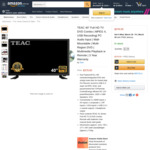 """TEAC 40"""" TV & DVD Combo $379 Delivered @ Mecola Amazon AU"""