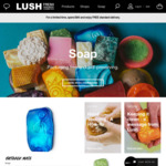 Free Postage over $95 at Lush Cosmetics