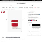 Nia Reusable Cup in Salsa Red $9.95 + Delivery (Free Pickup / $50 Spend) @ Country Road