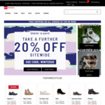 20% off Sitewide @ Shoe Warehouse Online