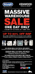 DeLonghi Warehouse Sale - Up to 60% off (Sydney - 16/10/11 Only)