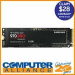 Samsung 970 PRO 512GB M.2 SSD $199 Delivered ($171 after CB via Redemption) @ Computer Alliance eBay