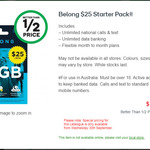 Belong $25 Starter Pack for $10 @ Woolworths