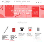 Buy 3 Items for The Price of 2 ($8.80 Shipping) @ Milligram Outlet