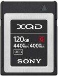 Sony XQD G-Series 120GB Memory Card (QD-G120F) $261.08 Delivered @ Amazon AU