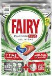 Fairy Platinum Plus Dishwasher Tablets Lemon 45 Pack $15.75 / $14.18 S&S + Delivery ($0 with Prime) @ Amazon AU