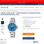 Deep Blue Swiss Quartz 36mm Dive Watch Ceramic Blue Abalone Shell Dial US$179.60 (~A$233.30) Delivered @ Deep Blue