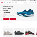20% off Full Priced Items + $10 Delivery ($0 with $100 Spend) @ New Balance