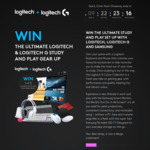 Win 1 of 5 Ultimate Study and Play Prize Packs Worth over $1000 (for Students) from Logitech, Logitech G and Samsung