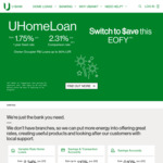 UBank Home Loan - 1.75% 1 Year Fixed Rate, No Ongoing Fees