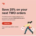 Doordash 25% off 2 Orders