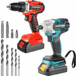 VEVOR Cordless Drill Driver & Impact Driver Brushless Cordless Combo & 2x 20V 2Ah Battery $72.32 Delivered @ techstylegroup eBay