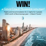 Win Flights + Hotel for 2 Nights for 2 People to Gold Coast + $500 Worth of Gear + 2 Beach Towels from Boomerangz Footwear