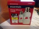 Woolworths Compact Flourescent Light Bulbs 2 for $1.99